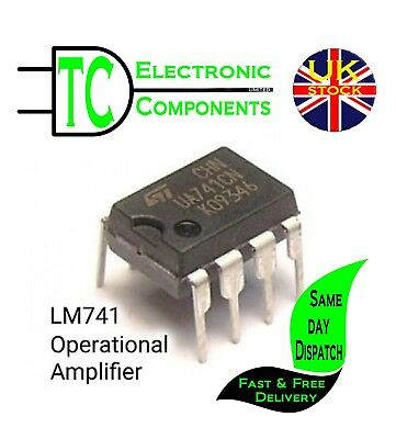 LM741CN (UA741) Op Amp Compensated DIP8 5 Pack  **UK Stock** Free P&P