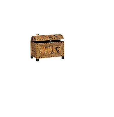 Egyptian Style Chest Chariot ancient design replica ark coffer UH