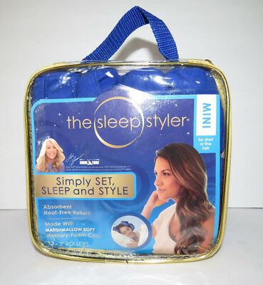 """NEW The Sleep Styler MINI HEAT FREE rollers for short or fine hair 12 3"""" rollers"""