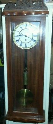 Antique style single weight vienna wall clock