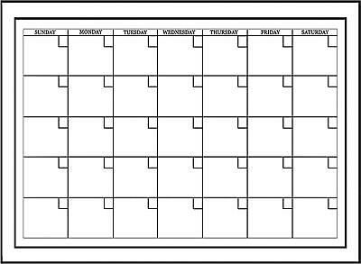 Wall White Board Monthly Calendar Planner Peel Stick Dry Erase Marker Office 24""