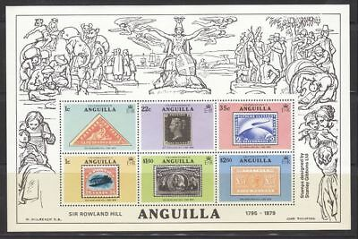 Anguilla Sc. 354a SS Sir Rowland Hill Stamps on Stamps 1979 MNH