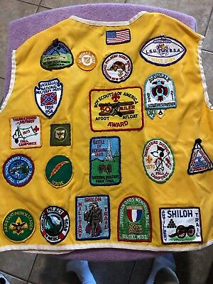 Vintage VTG Boy Scouts Of America BSOA Vest Lots Of Patches