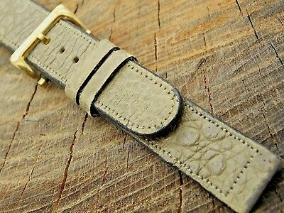 Croton NOS Vintage Unused Frog Leather Watch Band w Gold Tone Buckle 15mm Ladies