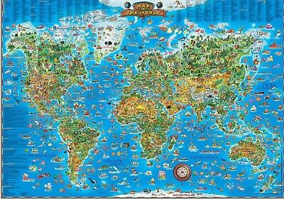 Large framed childrens map of the world