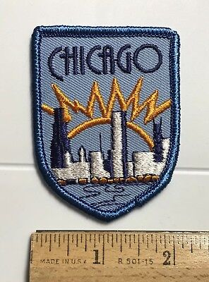 City of Chicago Skyline Cityscape Sunrise Illinois IL Embroidered Patch Badge