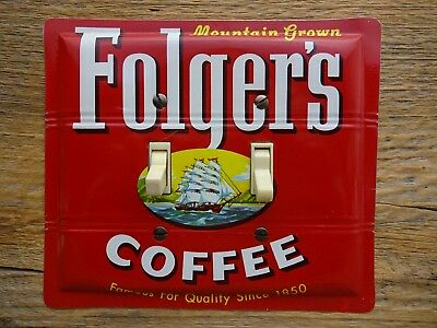 Antique Coffee Tins Key Wind Cans Switch Plate Made From A 1950s Folgers Tin Can