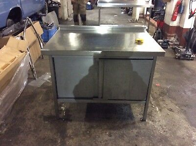 Stainless Steel Catering Table / Work Unit / Bench With cupboards