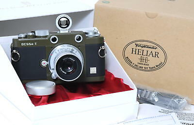 Voigtlander Bessa-T+ 50mm F/3.5 Heliar  101 Years Body olive never used