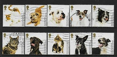 1) GB Stamps  2010 Battersea Dogs & Cats Full Set Good Used.