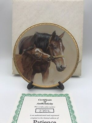 """American Artists Collectible Plate """"Patience"""" by Fred Stone"""