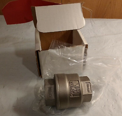 "DFT 8369 750 CWP 1"" F-NPT 316SS SCV Threaded In-Line Check Valve"