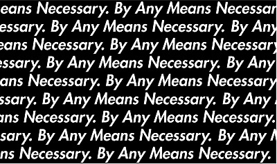 By Any Means Necessary Pattern Vinyl Painting Stencil For Shoes & Small Objects