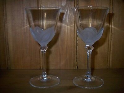 2 x J G Durand Crystal d'Arques Florence Sherry Glasses