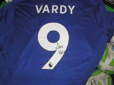 88dd4228c50 Jamie Vardy Signed Leicester City FC 2018/19 Season Shirt - Name & Number!