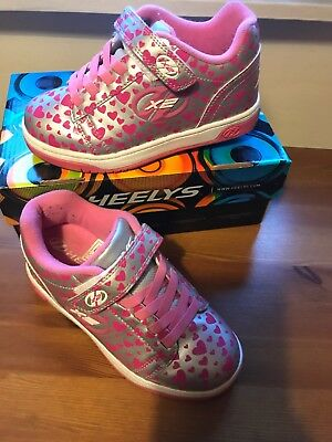 Heelys Pink Hearts Size 1 With Box