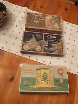 Vintage Christmas Lights Parts or Repair Propp Noma Starlite Clemco lot of 3
