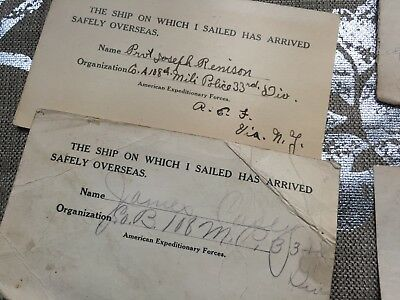 WWI 33rd Infantry Division correspondence from two soldiers