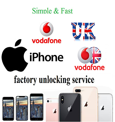 Vodafone UK Unlocking Service Unlock any Apple iPhone 11 Pro Max XS XR X 8 Plus