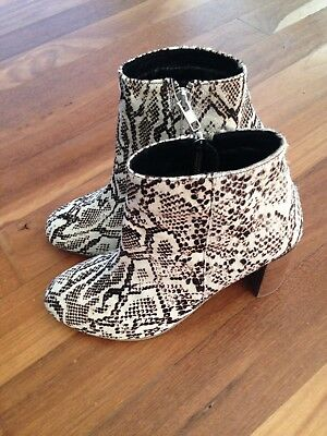 Womens Ankle Leather Boots snake print Size 38 by Holiday Clothing