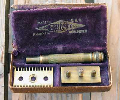 Gillette Pocket Edition Safety Razor Open Comb USA with original case c1920s