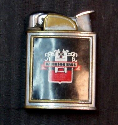 Vintage Evans Pocket Lighter Davidson Bros. Sold As Is