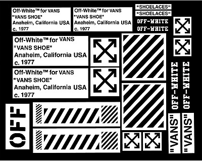 Off White V Pack Vinyl Painting Stencil For Shoes & Small Objects