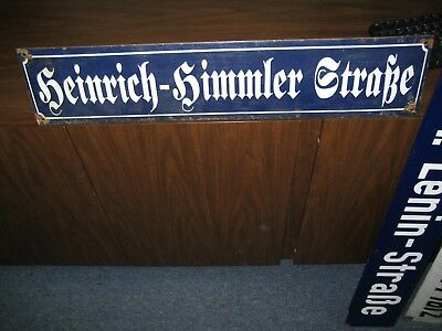 Russian DDR Soviet Germany  WW2 WWII Old German Enamel Street Sign World War 2