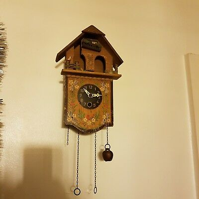Antique German TOGGILI Black Forest Cuckoo clock ( Spares or Repairs)...