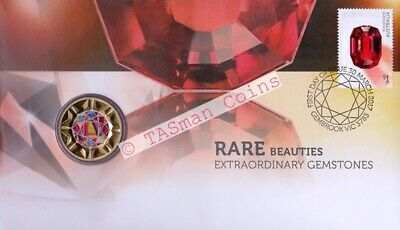PNC Australia 2017 Rare Beauties Extraordinary Gemstones PM Tuvalu $1 Coin
