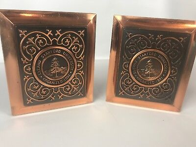 Leland Stanford University Vintage Bookends Set of 2 Heavy