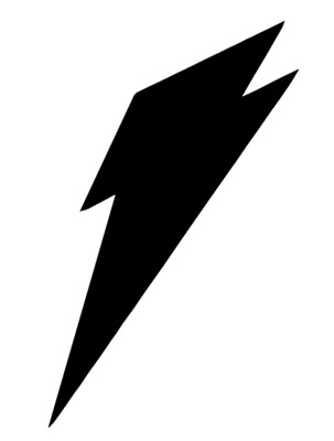 Lightning Bolt Decal Vinyl Painting Stencil For Shoes & Small Objects