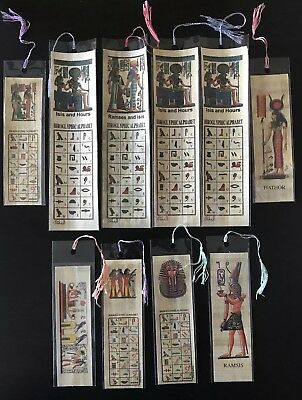 Egypt  Lot of10 Egyptian Genuine Papyrus BookMark, Ancient Egypt Language