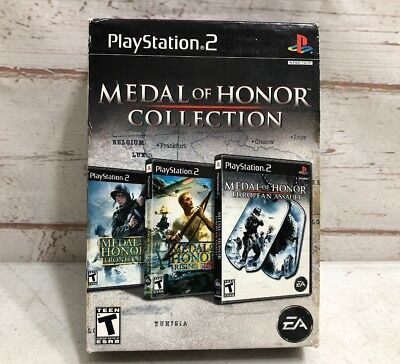 Medal of Honor Collection (Sony PlayStation 2, 2007) Fully Tested