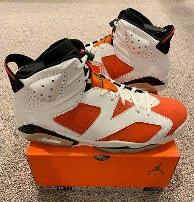 0a1b0e1d3760 Nike Air Jordan Retro 6 VI Gatorade Like Mike Summit White Team Orange  Black DS