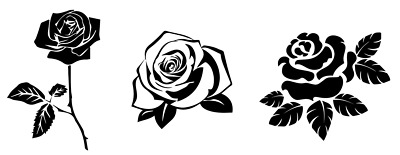 Rose Decal Vinyl Painting Stencil For Shoes & Small Objects