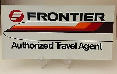 Frontier Airlines Vintage Authorized Travel Agent issued Rare Aviation