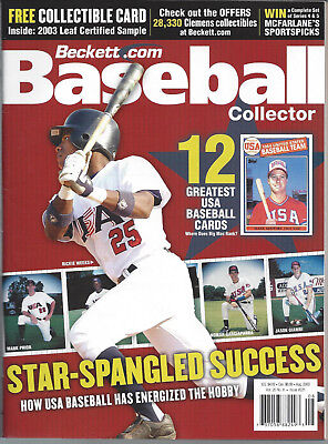 Beckett Baseball Card Monthly USA Olympic August 2003 Mark McGwire