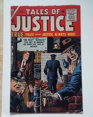 Tales Of Justice# 61! Marvel's Classic Crime Comic Series!