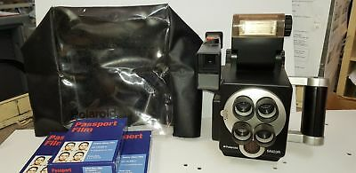 Polaroid M403R Instant Camera with accessories