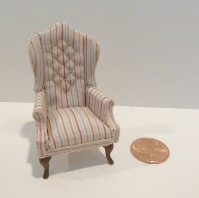 """Miniature 1/2"""" Scale (1:24) Chair Signed Donna & Jim Johnson"""