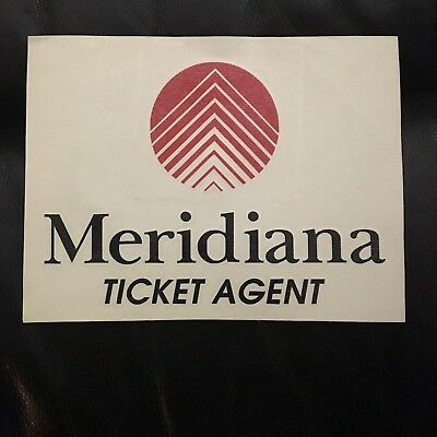 Meridiana Ticket Agent Over sized Airline issued Rare Aviation Sticker