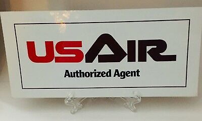 US Air Authorized Agent over sized Airline issued Rare Aviation Sticker Decal