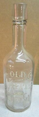 C 1900 Old White Mountain saloon backbar whiskey bottle