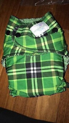 Twinkie Tush OS Cloth Diaper Christmas Green Plaid