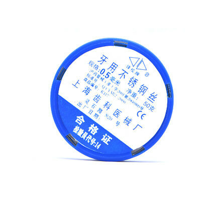 1pc Dental Orthodontic Ligature Wires Stainless Steel Wire Line Dia.0.50mm 50g