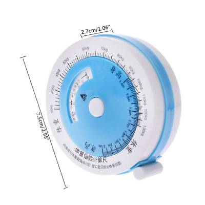 1pc 150cm BMI Tape Measure Body Mass Retractable Tape Diet Weight Ruler Healthy