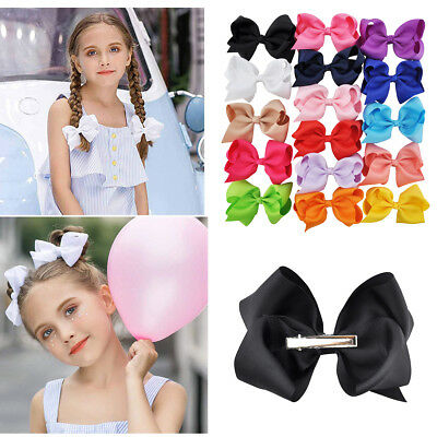 3 Inch Kids Girls Solid Color Hair Bows Hair clips Boutique Bow Hair Accessories