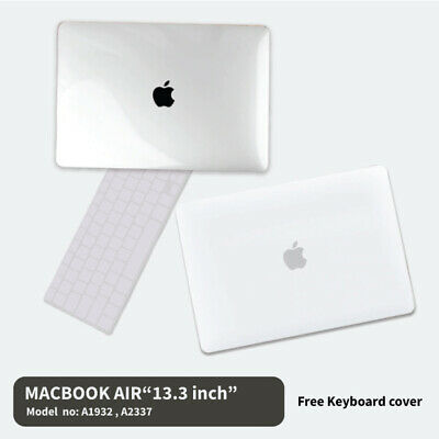 "Clear Hard Case Cover New Apple MacBook Air 13.3"" A1932 A1932 (2018 Release)"