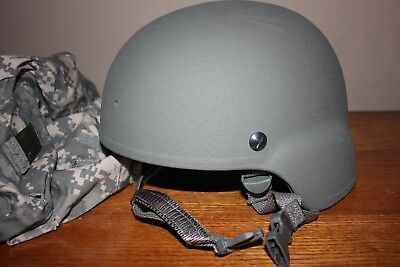 Us Army Advanced Combat (Ach) Helmet Msa Gentex & Cover~ Size Large